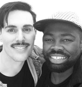 PHOTOS: 'Black and Gold' singer Sam Sparro marries boyfriend in the desert