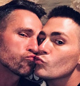 "Colton Haynes and Jeff Leatham ""working on things"" after filing for divorce, says Gus Kenworthy"