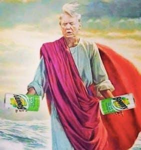 "Trump ""tremendously big and tremendously wet"" memes flood the internet"