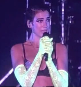 Dua Lipa cried on stage as LGBTQ fans forcibly removed by police