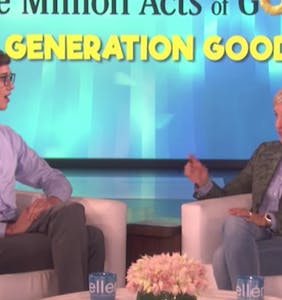 "Teen was kicked out of the house for being gay. Watch Ellen make his jaw drop with an ""act of good."""