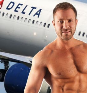 Delta employee suspended over mid-flight bathroom hookup with Austin Wolf caught on tape