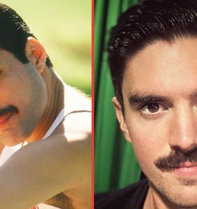 Steve Grand's new Freddie Mercury moustache has us seeing doubles