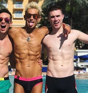PHOTOS: Frankie Grande is officially in a throuple and wants the world to know