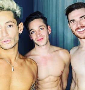 """Frankie Grande dishes on being in a thruple, says """"the triangle is the strongest shape"""""""