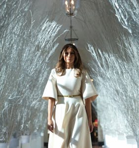 Melania dreads the impending arrival of the f'ing White House Christmas tree