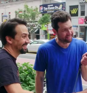 WATCH: Can Billy Eichner and Lin-Manuel Miranda cheer up NYC?