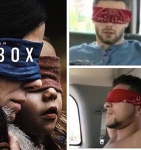 """Bird Box"" has captivated audiences… and inspired some super gay memes"