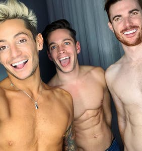 Frankie Grande's throuple has broken up, and we're actually kinda sad about it