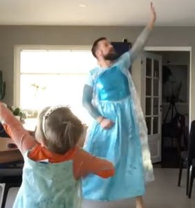 "Father and son go viral dancing to 'Frozen': ""This is what healthy masculinity looks like"""