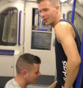 Gay couple who filmed themselves having orgy on subway receive sentencing and a scolding from judge