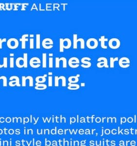 Um, Scruff just banned photos of jockstraps, swimsuits, and crotch shots
