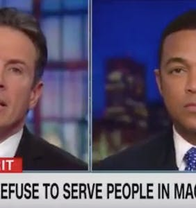Don Lemon asks, 'Is refusing to serve MAGA hat wearers similar to anti-gay discrimination?'