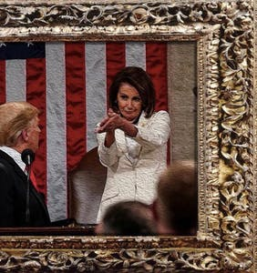 "Nancy Pelosi's ""f*ck you"" clap to Donald Trump has been immortalized in memes for posterity"