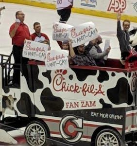 Pro-LGBTQ protesters hijack Chick-fil-A Zamboni at Cincinnati hockey match