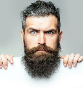 A new study says humans with 'showy' beards are more likely to have small testicles