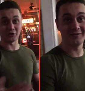 Homophobe who assaulted gay man on video whines about being too poor to get to court