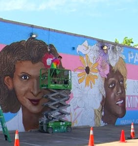 Check out the new mural dedicated to Stonewall hero Marsha P. Johnson