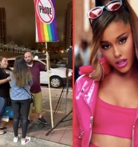 """Girl yikes!"": Ariana Grande doesn't suffer homophobic fools at her concerts"