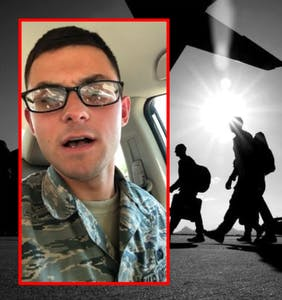 Airman posts series of deeply disturbing videos of himself shouting homophobic vitriol into camera