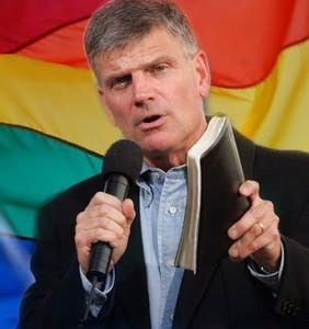 Evangelist Franklin Graham thanks Donald Trump for banning the Pride flag