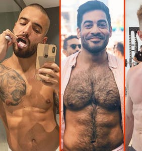Pietro Boselli's pool shower, Adam Rippon's tan lines, & Max Emerson's red shorts