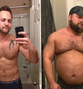 PHOTOS: Man's transformation from jock to bear has Gay Twitter's attention