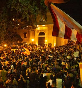 Police fire tear gas and rubber bullets at people protesting Puerto Rico's homophobic governor