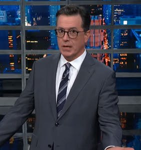 """Stephen Colbert to straight dudes: """"Caring for the earth is butch as hell"""""""