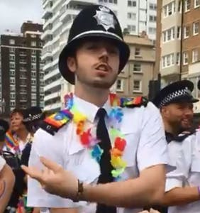 Thousands are sharing this video of a cop at Pride. See why.
