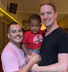 This wonderful same-sex couple just became the most famous gay parents in the world