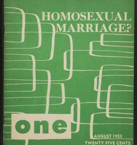 Back in 1953, this daring soul promoted same-sex marriage & monogamy