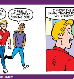 'Archie' comics celebrate Coming Out Day by having Riverdale residents come out