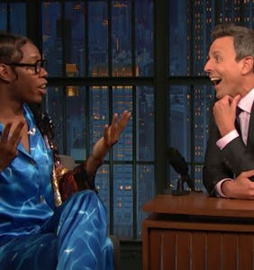 Queer playwright Jeremy O. Harris scams Seth Myers and it's beautiful