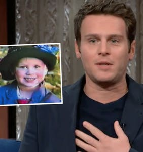 WATCH: Jonathan Groff, aged 3, dressed as Mary Poppins for Halloween
