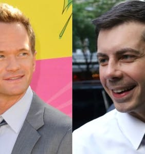 Neil Patrick Harris had to try three times to get Pete Buttigieg's attention