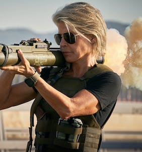 Linda Hamilton on redefining gender, sexuality, & using a bazooka at 63 in 'Terminator Dark Fate'