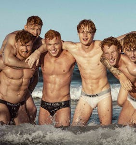 European red-heads pose for one of the world's sexiest calendars