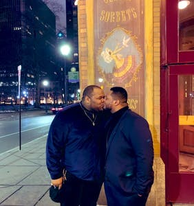 Viral kissing photo celebrates 'fat, heavy, thick, black and gay men'