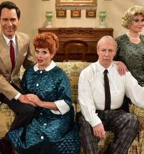 Will & Grace cast transform for 'I Love Lucy' special