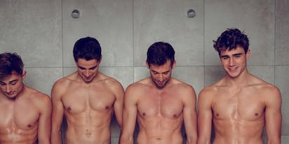 PHOTOS: Belgian rowers strip down to support queer athletes