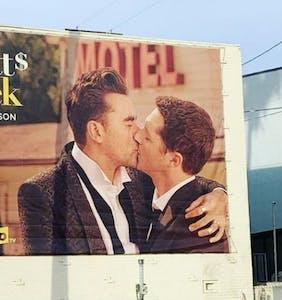 Dan Levy praises billboard campaign for final season of Schitt's Creek