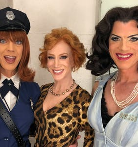 """PHOTOS: Kathy Griffin appears with all-star drag cast of """"Women Behind Bars"""""""