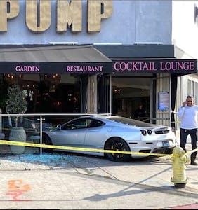 A Ferrari crashed into Lisa Vanderpump's restaurant in WeHo