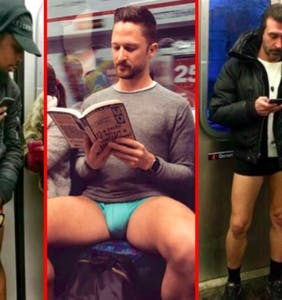 Undies in the underground: Guys drop trou for 2020 No Pants Subway Ride