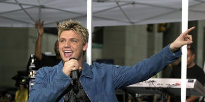 Nick Carter got unexpectedly 'excited' on stage