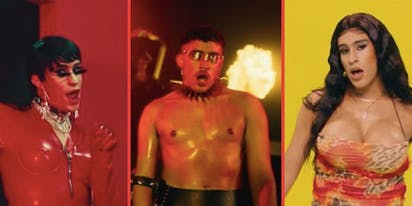 Bad Bunny twerks in latex and thigh-highs in new music video
