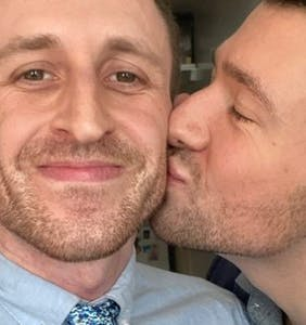 Gay couple marry in their NYC apartment during coronavirus lockdown