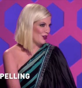 """Tori Spelling dragged for posting photo of daughter wearing Cheetos and calling her """"McQuisha"""""""