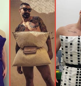 """PHOTOS: More thirsty pics of guys doing the """"Quarantine Pillow Challenge"""" because why not?"""